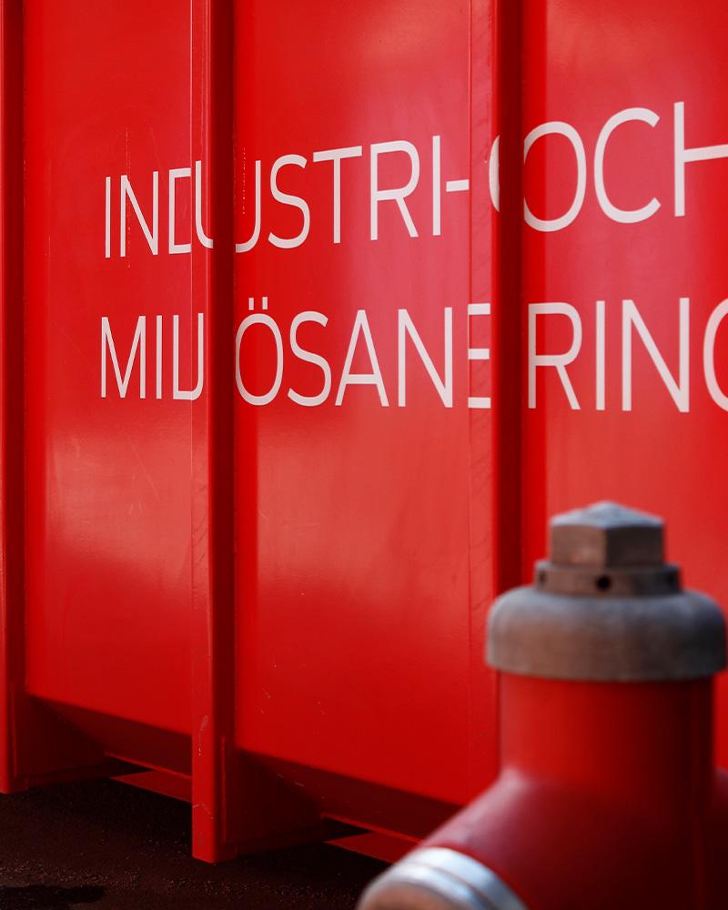 SVB container vid brandpost
